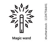 magic wand icon vector isolated ... | Shutterstock .eps vector #1134756641