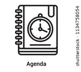 agenda icon vector isolated on... | Shutterstock .eps vector #1134758054