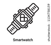smartwatch icon vector isolated ... | Shutterstock .eps vector #1134758159
