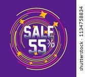 sale discount label  beautiful... | Shutterstock .eps vector #1134758834