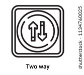two way icon vector isolated on ... | Shutterstock .eps vector #1134760025