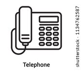 telephone icon vector isolated... | Shutterstock .eps vector #1134762587