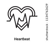heartbeat icon vector isolated... | Shutterstock .eps vector #1134762629