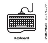 keyboard icon vector isolated... | Shutterstock .eps vector #1134762644