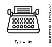 typewriter icon vector isolated ... | Shutterstock .eps vector #1134762707