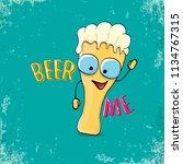 beer me vector concept...   Shutterstock .eps vector #1134767315