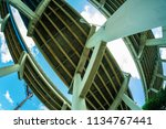 skyward view of interstate 95... | Shutterstock . vector #1134767441