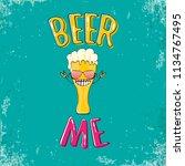 beer me vector concept...   Shutterstock .eps vector #1134767495