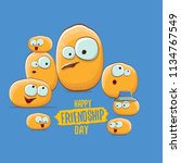 vector friends tiny potato... | Shutterstock .eps vector #1134767549