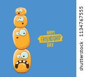 vector friends tiny potato... | Shutterstock .eps vector #1134767555