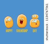 vector friends tiny potato... | Shutterstock .eps vector #1134767561