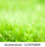 Abstract background green bokeh ...
