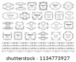 calligraphic design elements .... | Shutterstock .eps vector #1134773927
