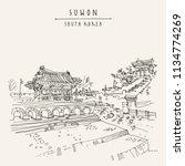 suwon  south korea  asia.... | Shutterstock .eps vector #1134774269