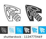 mouse cursor black linear and... | Shutterstock .eps vector #1134775469