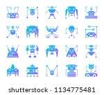 robot silhouette icons set.... | Shutterstock .eps vector #1134775481
