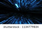 space travelling in the speed... | Shutterstock . vector #1134779834