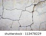 cracked concrete wall texture... | Shutterstock . vector #113478229