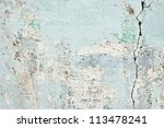 old cracked paint concrete wall ... | Shutterstock . vector #113478241