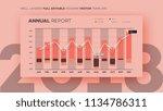 full editable infographic chart.... | Shutterstock .eps vector #1134786311