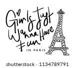 girls just wanna have fun in...   Shutterstock .eps vector #1134789791