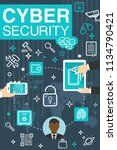 internet cyber security and... | Shutterstock .eps vector #1134790421