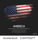 america flag made of glitter... | Shutterstock .eps vector #1134792677