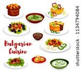 bulgarian cuisine healthy food... | Shutterstock .eps vector #1134794084