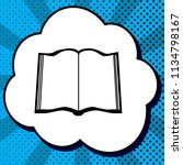 book sign. vector. black icon... | Shutterstock .eps vector #1134798167