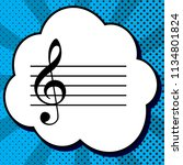 music violin clef sign. g clef. ...   Shutterstock .eps vector #1134801824