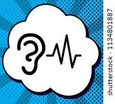 ear hearing sound sign. vector. ... | Shutterstock .eps vector #1134801887