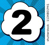 number 2 sign design template... | Shutterstock .eps vector #1134801941