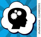 thinking head sign. vector.... | Shutterstock .eps vector #1134802001
