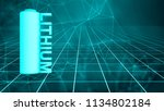 lithium battery fast recharge... | Shutterstock . vector #1134802184