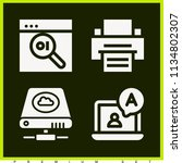 set of 4 computer filled icons... | Shutterstock . vector #1134802307