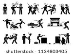 man fighting  obstructing  and... | Shutterstock .eps vector #1134803405