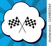 crossed checkered flags logo... | Shutterstock .eps vector #1134803564