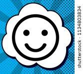 smile icon. vector. black icon... | Shutterstock .eps vector #1134803834