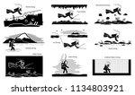 underwater recreational and... | Shutterstock . vector #1134803921