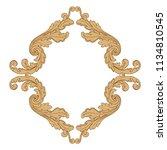 retro baroque decorations... | Shutterstock .eps vector #1134810545