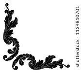 retro baroque decorations... | Shutterstock .eps vector #1134810701