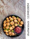 swedish meatballs with... | Shutterstock . vector #1134810854