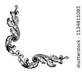 retro baroque decorations... | Shutterstock .eps vector #1134811085