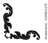 retro baroque decorations... | Shutterstock .eps vector #1134811175