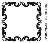 retro baroque decorations... | Shutterstock .eps vector #1134811289