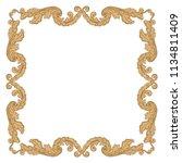 retro baroque decorations... | Shutterstock .eps vector #1134811409