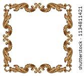 retro baroque decorations... | Shutterstock .eps vector #1134811421