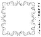retro baroque decorations... | Shutterstock .eps vector #1134811619