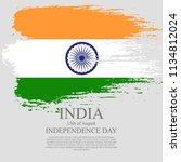 indian flag tri color based...   Shutterstock .eps vector #1134812024
