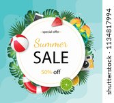 summer sale beautiful web... | Shutterstock .eps vector #1134817994